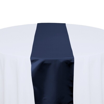 Navy Satin Table Runners Rentals