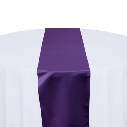 Purple Satin Table Runners Rentals
