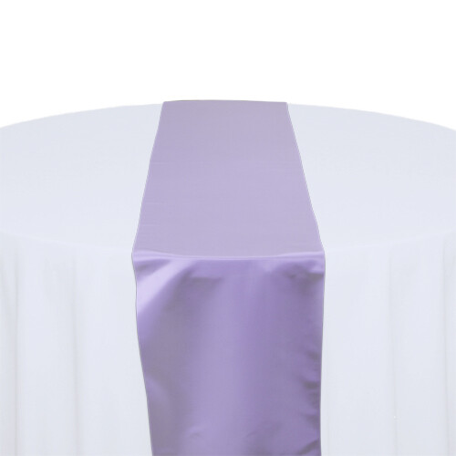 Lilac Satin Table Runners Rentals