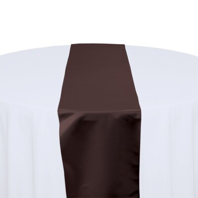 Brown Satin Table Runners Rentals