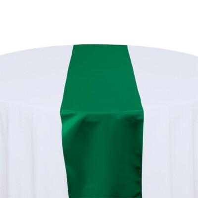 Emerald Green Satin Table Runners Rentals