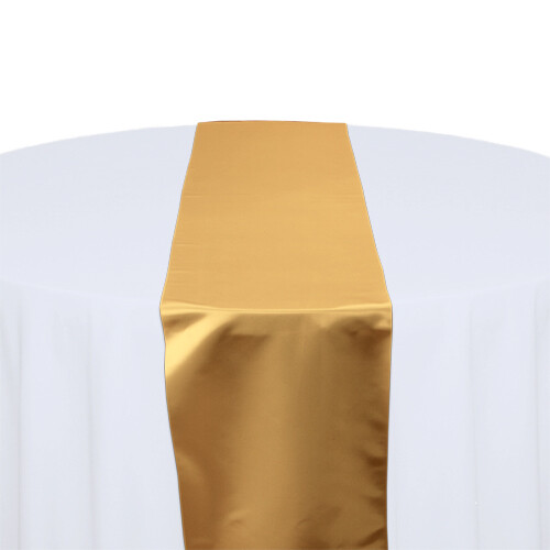 Gold Satin Table Runners Rentals