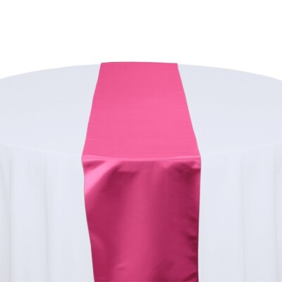 Hot Pink Satin Table Runners Rentals