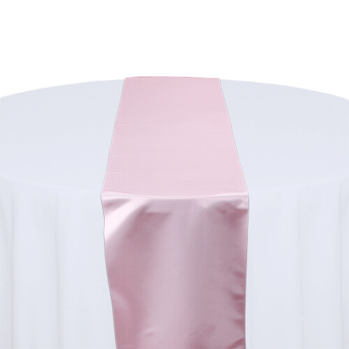 Pink Satin Table Runners Rentals