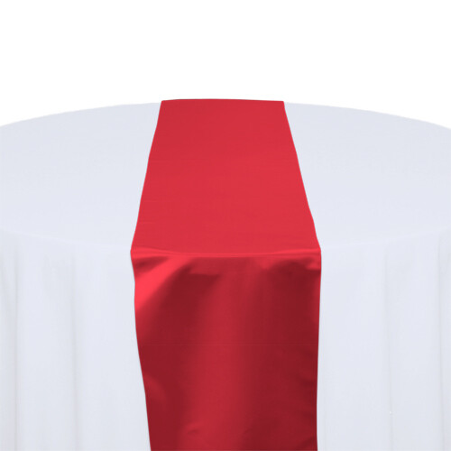 Red Satin Table Runners Rentals