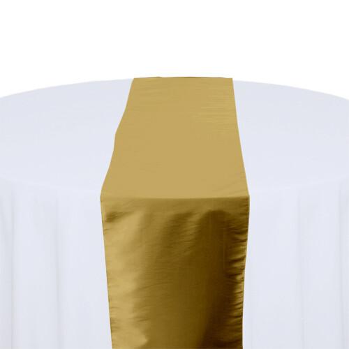 Gold Table Runner Rentals - Taffeta