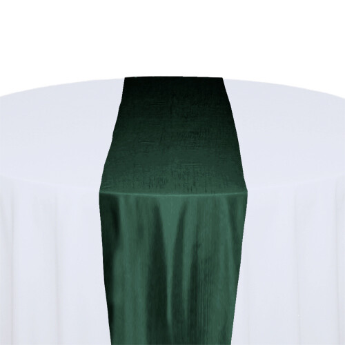 Forest Green Table Runner Rentals - Taffeta
