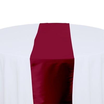 Claret Table Runner Rentals - Taffeta