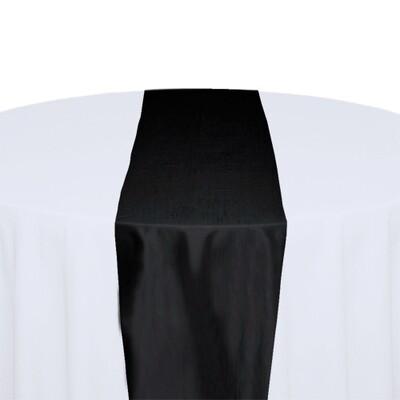 Black Table Runner Rentals - Taffeta