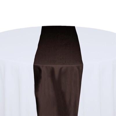 Brown Table Runner Rentals - Taffeta