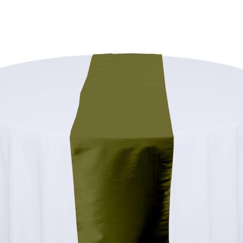 Fern Green Table Runner Rentals - Taffeta