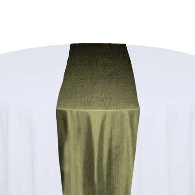 Olive Table Runner Rentals - Taffeta