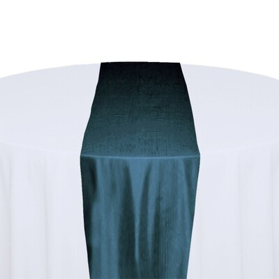 Teal Table Runner Rentals - Taffeta