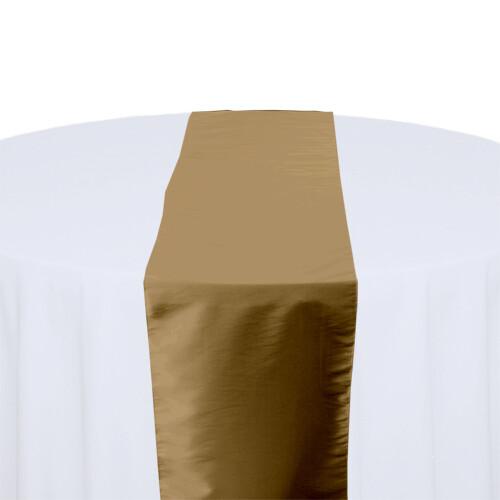 Latte Table Runner Rentals - Taffeta
