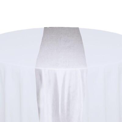 White Table Runner Rentals - Taffeta