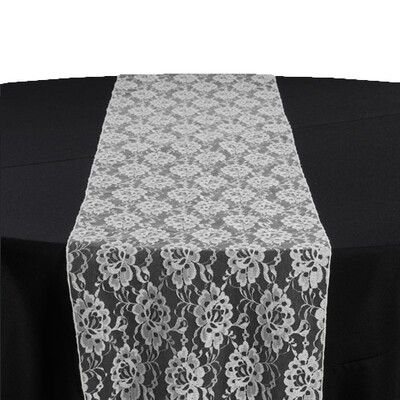White Lace Table Runner Rentals