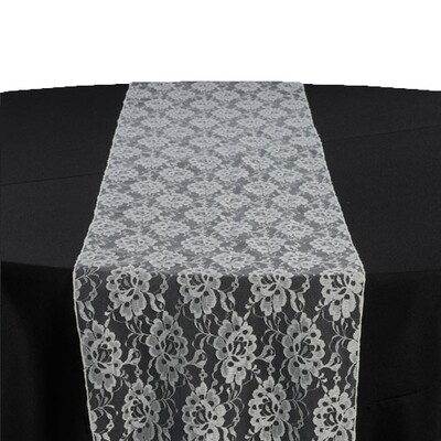 Ivory Lace Table Runner Rentals