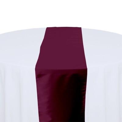 Plum Table Runner Rentals - Taffeta