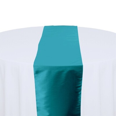 Turquoise Table Runner Rentals - Taffeta