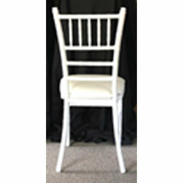 White Aluminum Chiavari Chair Rental