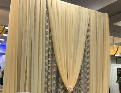 Champagne Sheer Wall Draping