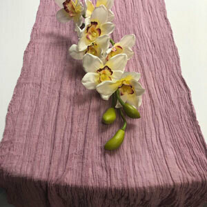Dusty Rose Table Runner Rentals - Cheesecloth
