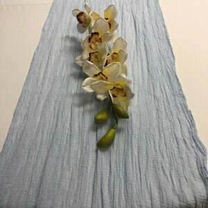 Powder Blue Table Runner Rentals - Cheesecloth