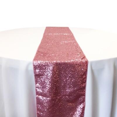 Pink Sequin Table Runner Rentals