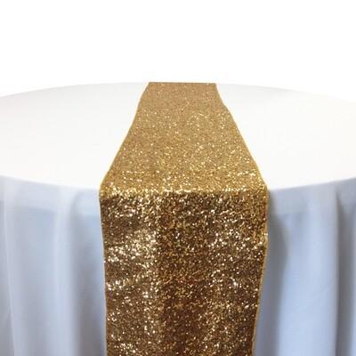 Gold Sequin Table Runner Rentals