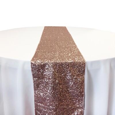 Blush Sequin Table Runner Rentals