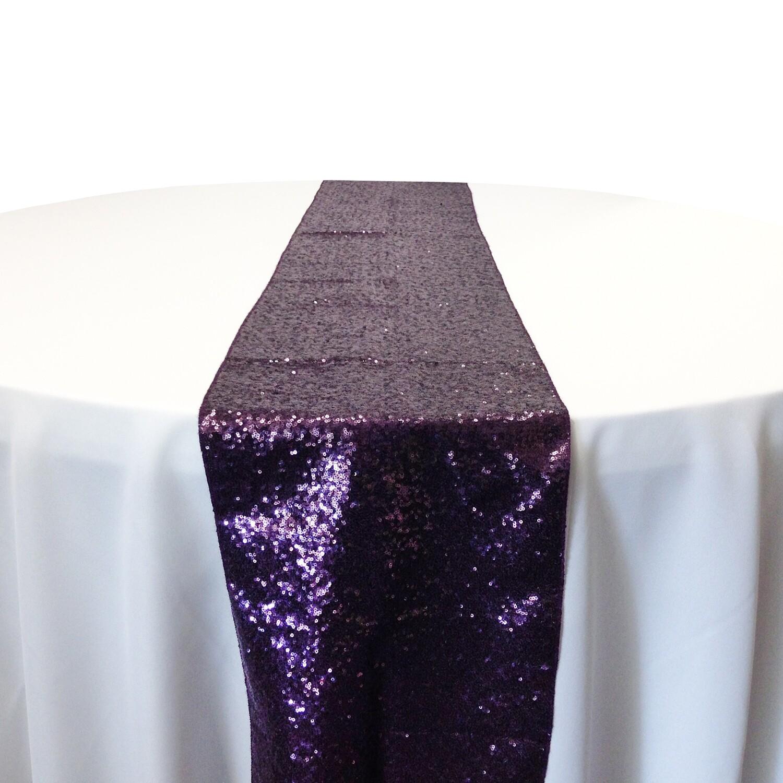 Plum Sequin Table Runner Rentals