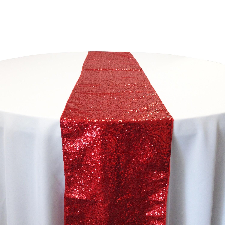Red Sequin Table Runner Rentals