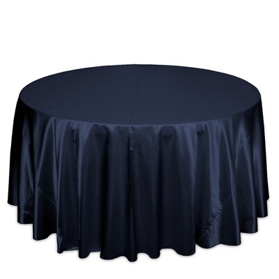 Navy Satin Tablecloth Rentals