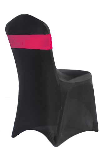 Fuchsia Spandex Chair Band Rental