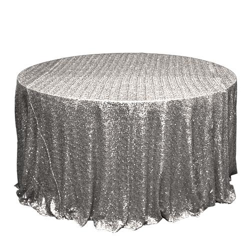 Silver Sequin Overlay Rentals - Mesh