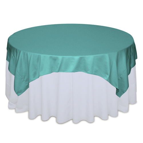 Mermaid Matte Satin Table Overlays Rental