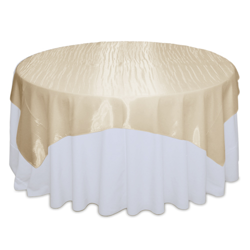 Champagne Mirror Table Overlay Rental