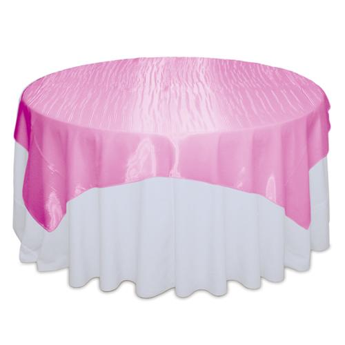 Pink Raspberry Mirror Table Overlay Rental