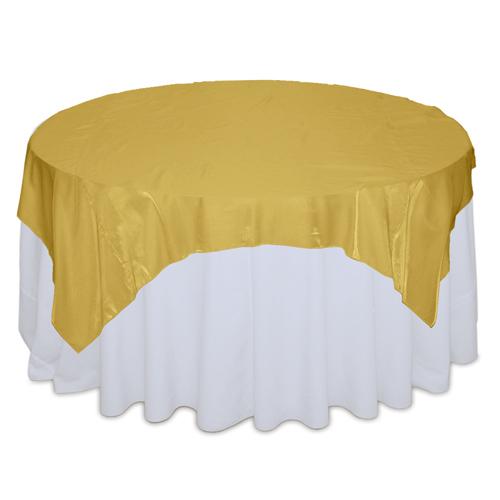 Gold Organza Satin Table Overlay Rentals