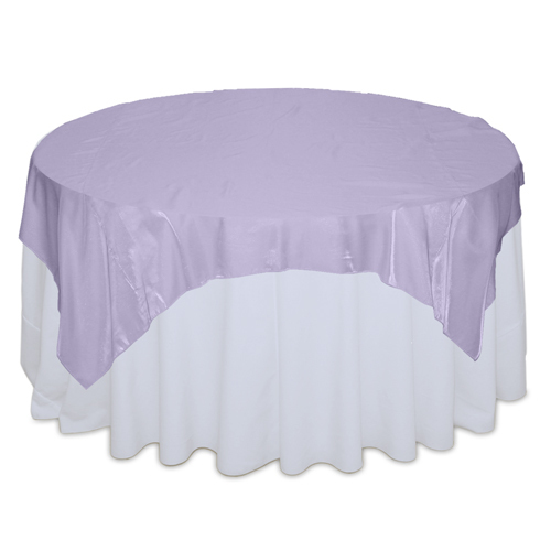 Lilac Organza Satin Table Overlay Rental