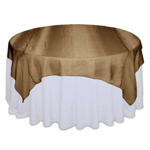Copper Sheer Table Overlay Rental