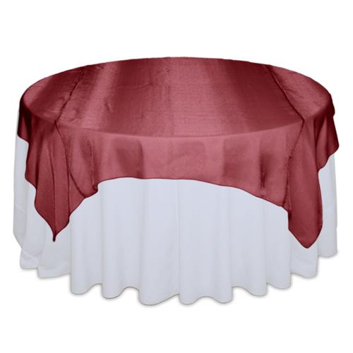 Red Raspberry Sheer Table Overlay Rental
