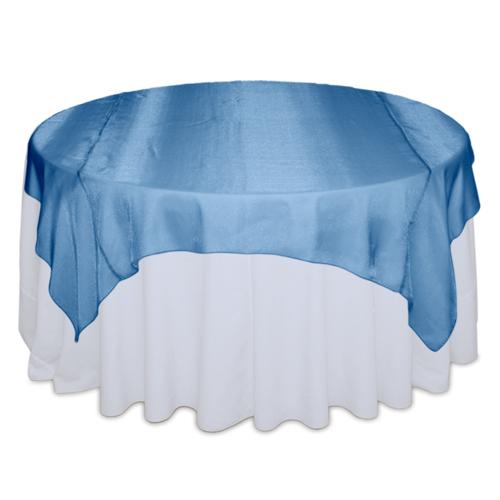 Ocean Blue Sheer Table Overlay Rental
