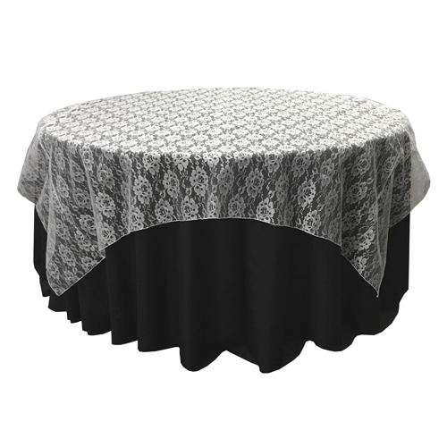 White Lace Table Overlay Rental