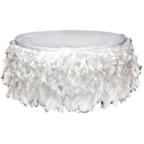 White Organza Tutu Table Skirting Rental