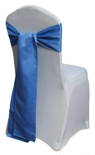 Cornflower Blue Matte Satin Chair Sashes