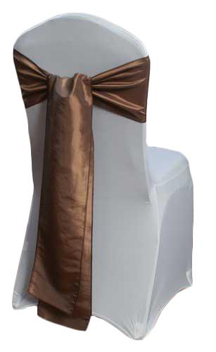 Latte Taffeta Chair Sashes