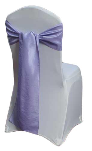 Lavender Taffeta Chair Sashes