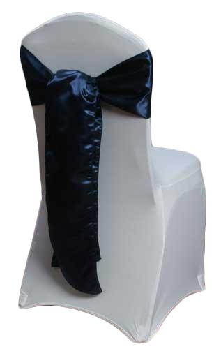 Navy Satin Chair Sashes