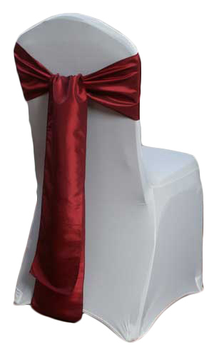 Ruby Taffeta Chair Sashes